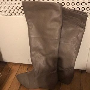 Concealed wedge deep taupe boots by Report